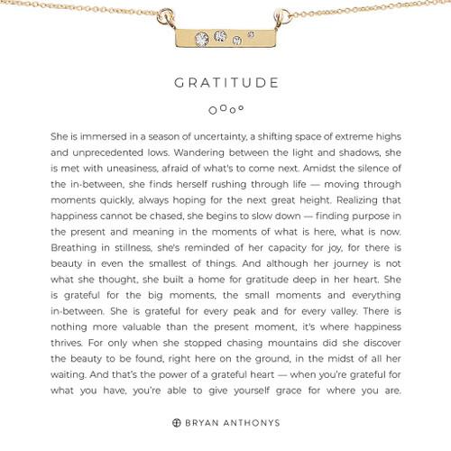 Gratitude 14K Gold Necklace