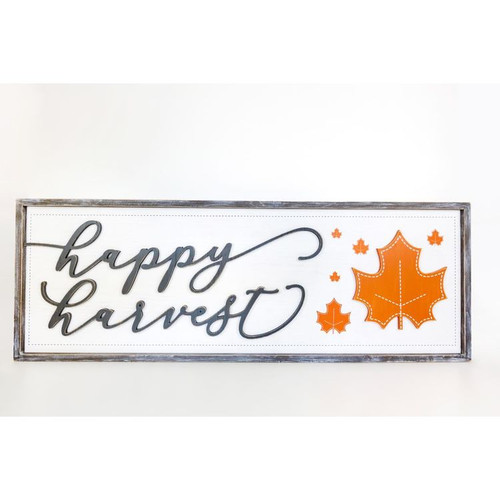 Happy Harvest Reversible Sign