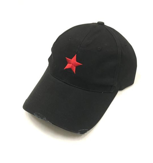 Black Hat with Pink Star