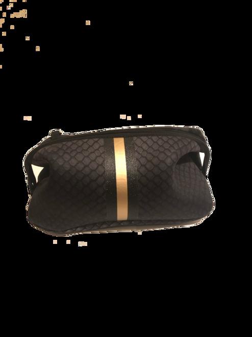 Kyle Black Croc Travel Bag