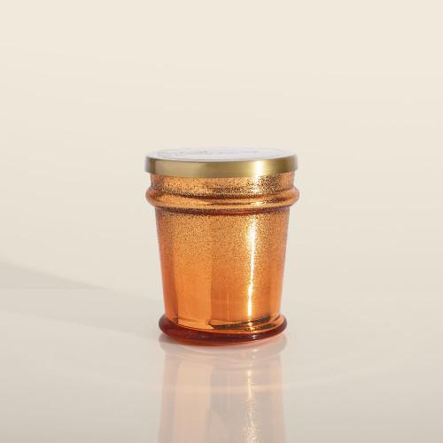 Copper Glitter Pumpkin Dulce Found Glass 8 oz Candle