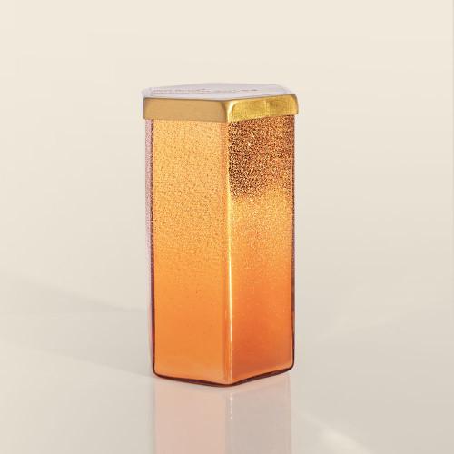 Copper Glitter Pumpkin Dolce Hexagon 17 oz Candle