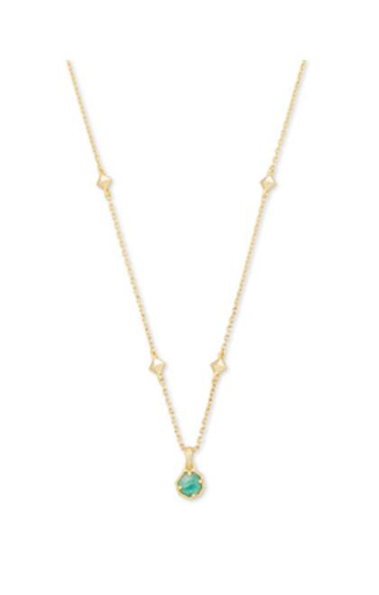 Nola Gold Teal Amazonite Necklace