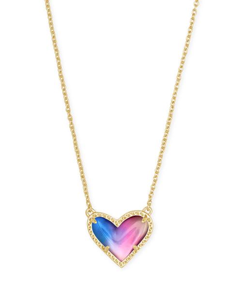 Ari Heart Gold Watercolor Illusion Necklace