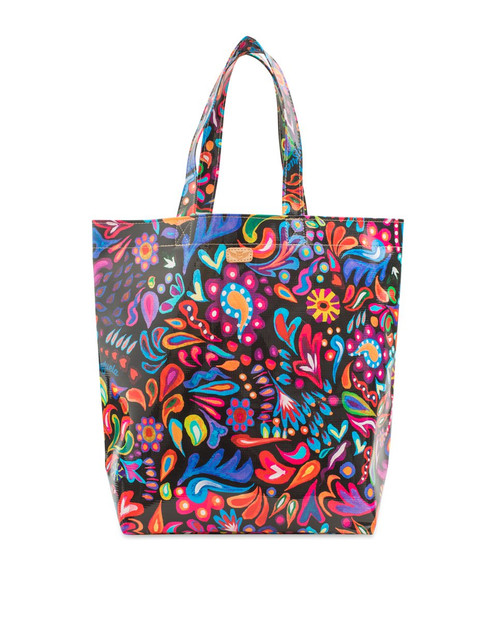 Black Swirly Sophie Grab n Go Tote Bag
