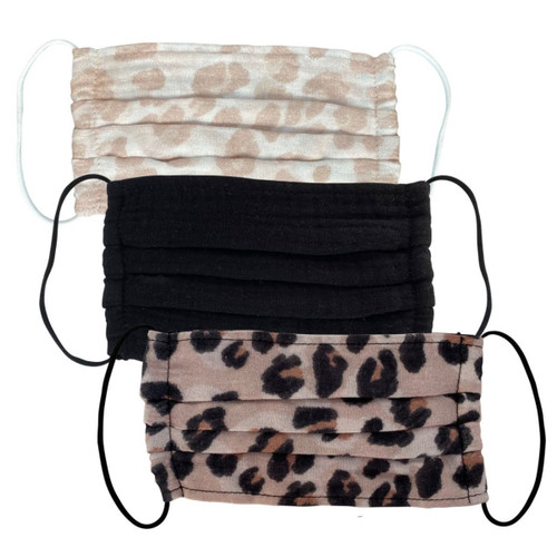 Leopard Cotton Mask Set 3