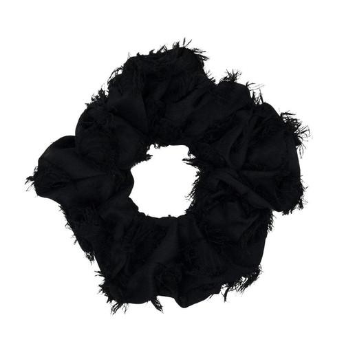 Frayed Black Brunch Scrunchie