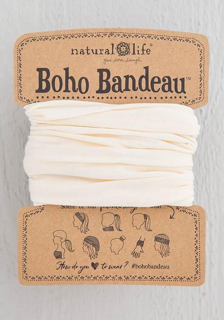 Solid Cream Boho Bandeau