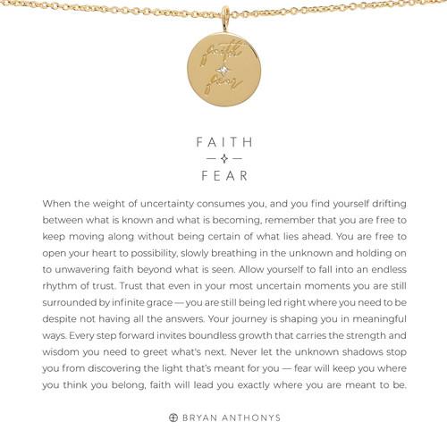 Faith Over Fear 14K Gold Necklace