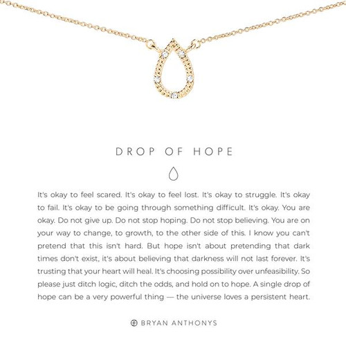 Drop Of Hope 14K Gold Necklace
