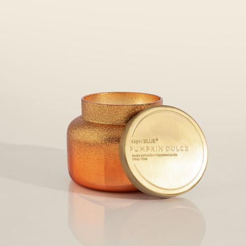 Copper Glittered Ombre Pumpkin Dulce 8 oz. Candle