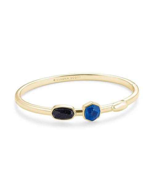 Davie Bangle Bracelet Gold Blue