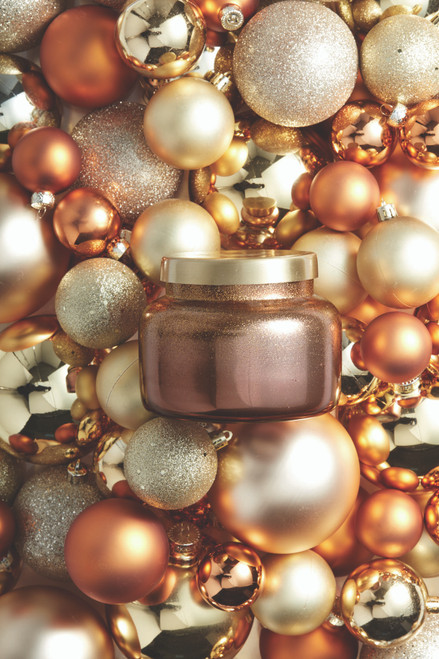 Tinsel and Spice Berry Glittered Ombre 8oz Candle