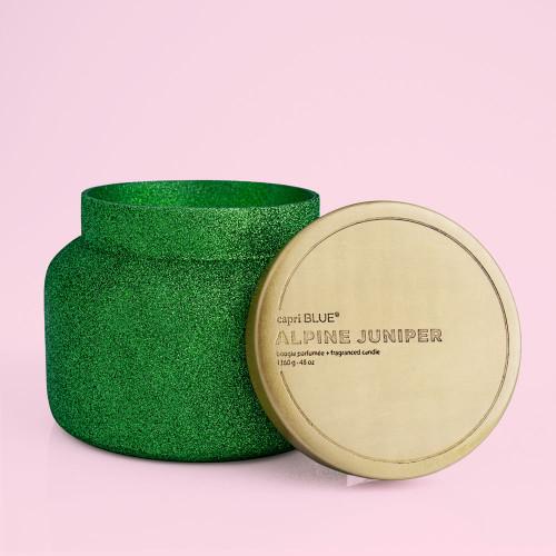 Alpine Juniper Jumbo Green Glitter 48 oz Candle