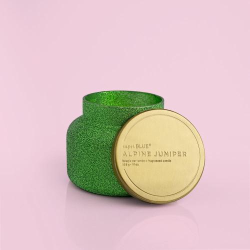 Alpine Juniper Green Glitter Glam 8 oz Candle