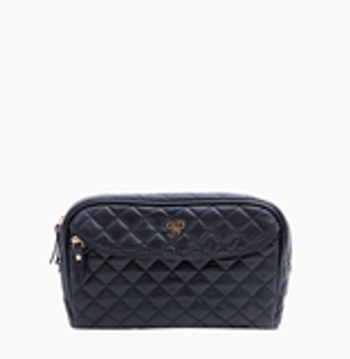 Black Quilted Clutch Makeup Case