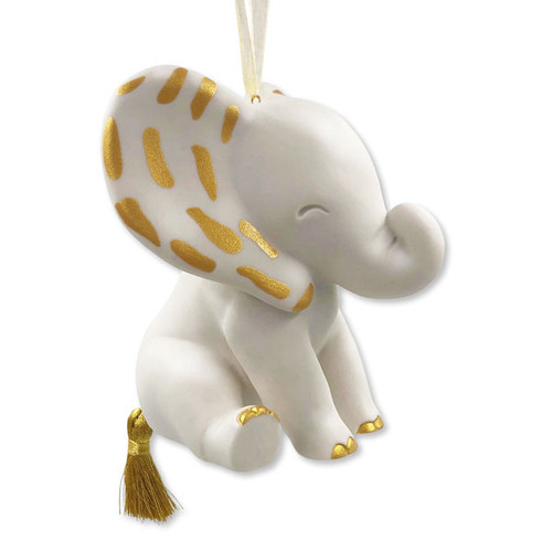 Ornament Porcelain Signature Elephant
