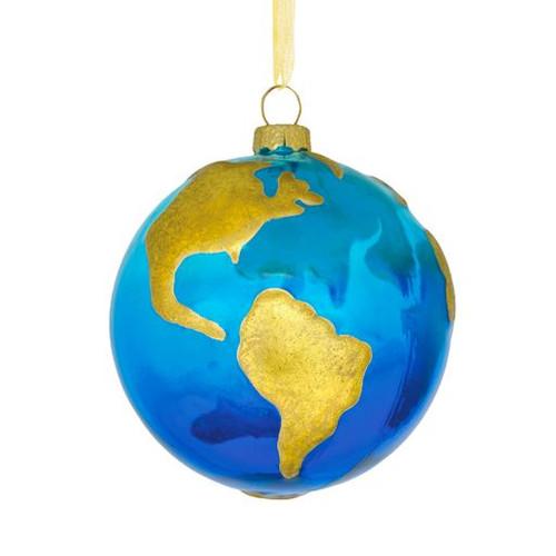 Glass Signature Globe Ornament