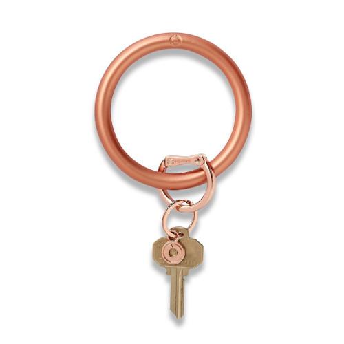Rose Gold Silicone Big O Key Ring