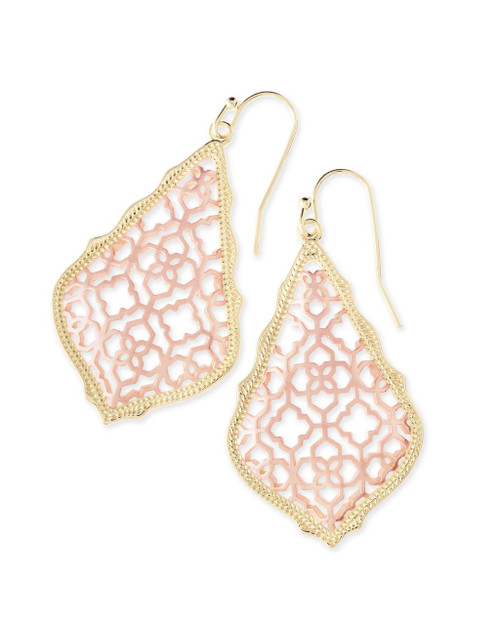 Addie Filigree Earring Rose Gold