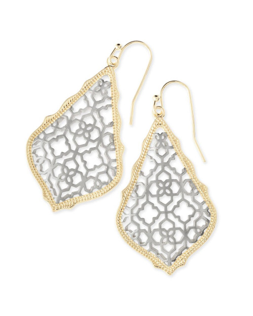 Addie Filigree Earring Silver and Gold Mix