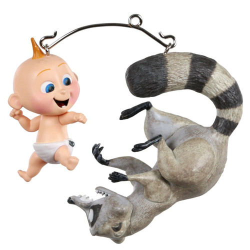 Jack Jack vs. Raccoon Ornament