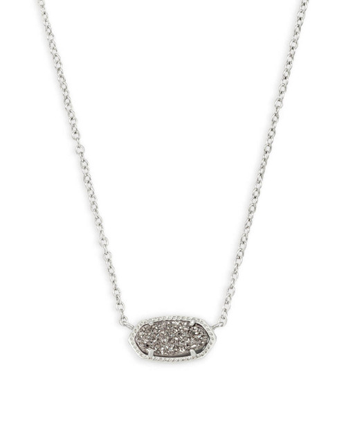 Elisa Necklace Silver and Platinum Drusy