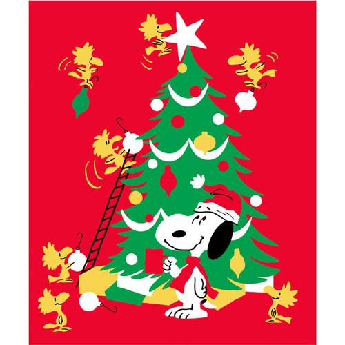 Blanket Peanut Snoopy Christmas Tree