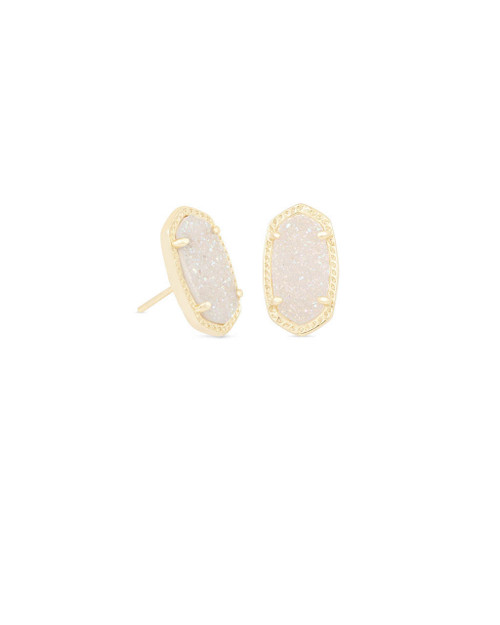 Ellie Earring Gold and Iridescent Drusy