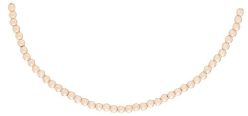 "17"" 2mm Gold Bead Classic Choker Necklace"