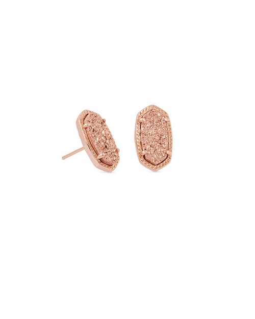 Ellie Earring Rose Gold Drusy