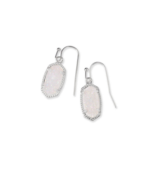 Lee Earring Silver and Iridescent Drusy