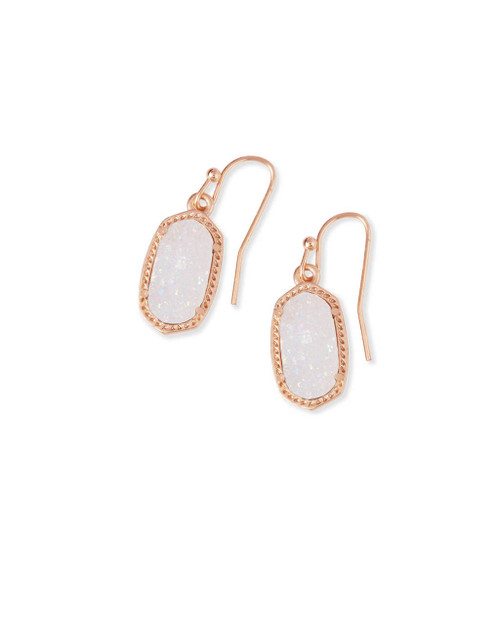 Lee Earring Rose Gold Iridescent Drusy