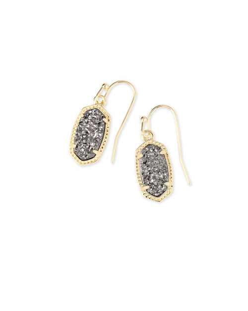 Lee Earring Gold and Platinum Drusy