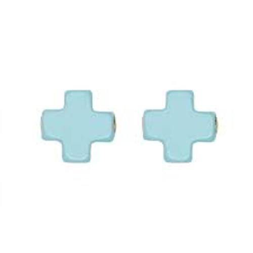Turquoise Cross Stud Earring
