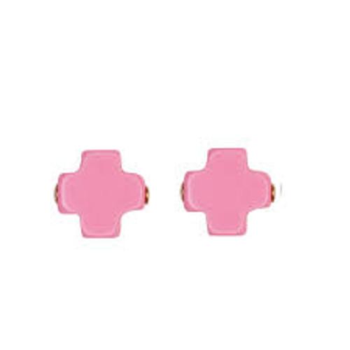 Pink Cross Stud Earring
