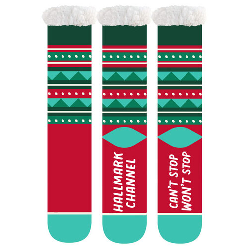 Hallmark Channel Can't Stop Won't Stop Fuzzy Socks