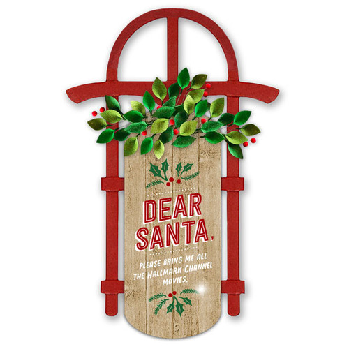 Hallmark Channel Dear Santa Decorative Sled