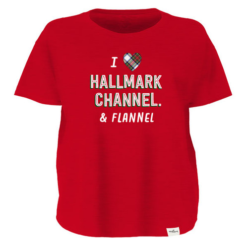 Hallmark Channel and Flannels Women's Relaxed T-shirt Large