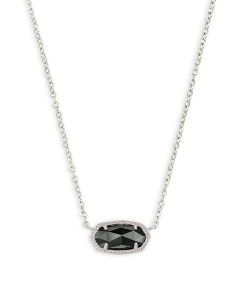 Elisa Necklace Silver and Black