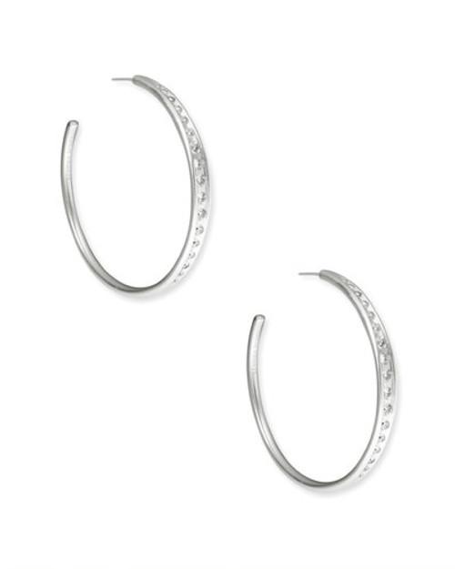 Selena Silver Hoop Earrings