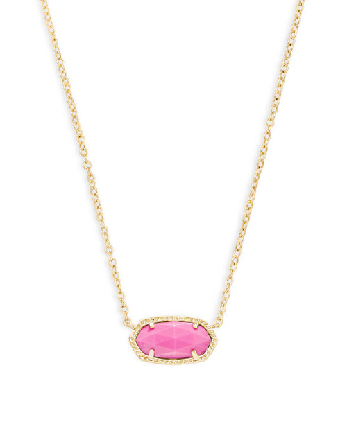 Elisa Necklace Gold and Magenta