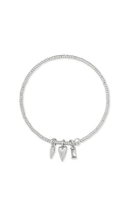 Zoey Silver Charm Stretch Bracelet