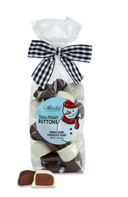 Snowman Buttons Fudge 8oz Bag