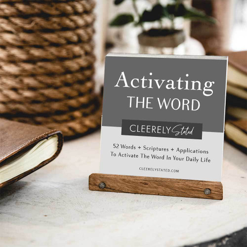 Men's Activating The Word Card