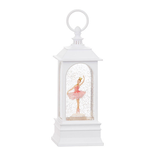 "Ballerina Musical Lighted Water Lantern 9.25"""