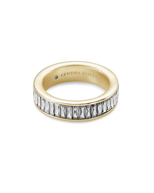 Jack Band Ring Gold Clear 8