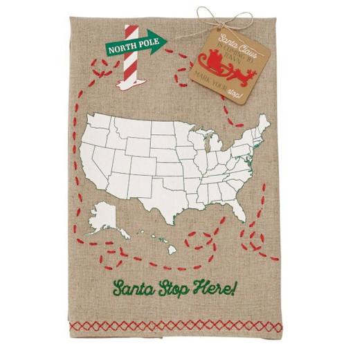 Santa Stop Here Towel