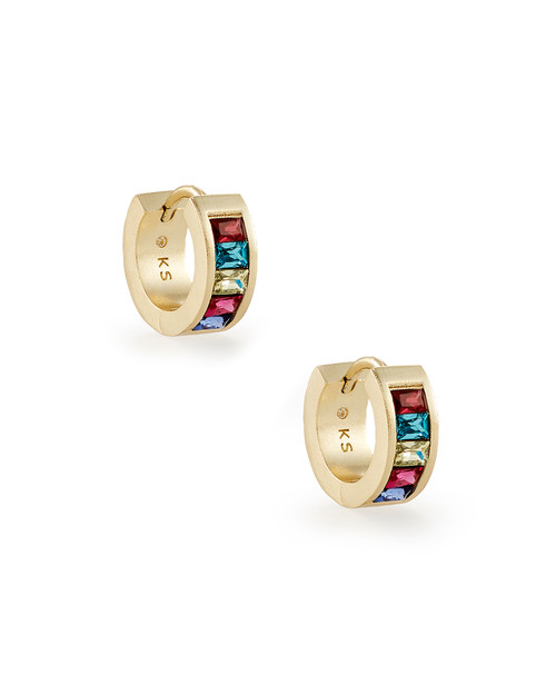 Jack Huggie Earring Gold Jewel Tone Mix