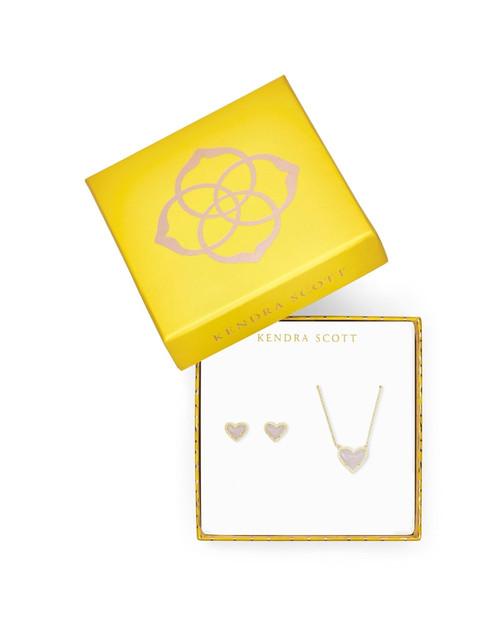Ari Heart Gold Amethyst Gift Set
